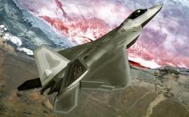 Papel de parede Caça F-22 Raptor