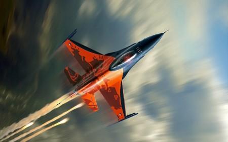 Papel de parede Caça F-16 Fighting Falcon para download gratuito. Use no computador pc, mac, macbook, celular, smartphone, iPhone, onde quiser!