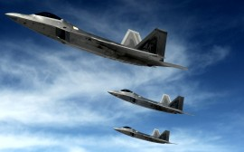 Papel de parede Caças F-22 Raptor