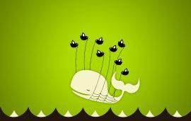 Papel de parede Fail Whale – Verde