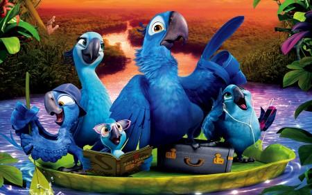 Papel de parede Família do Blue, Rio 2 para download gratuito. Use no computador pc, mac, macbook, celular, smartphone, iPhone, onde quiser!