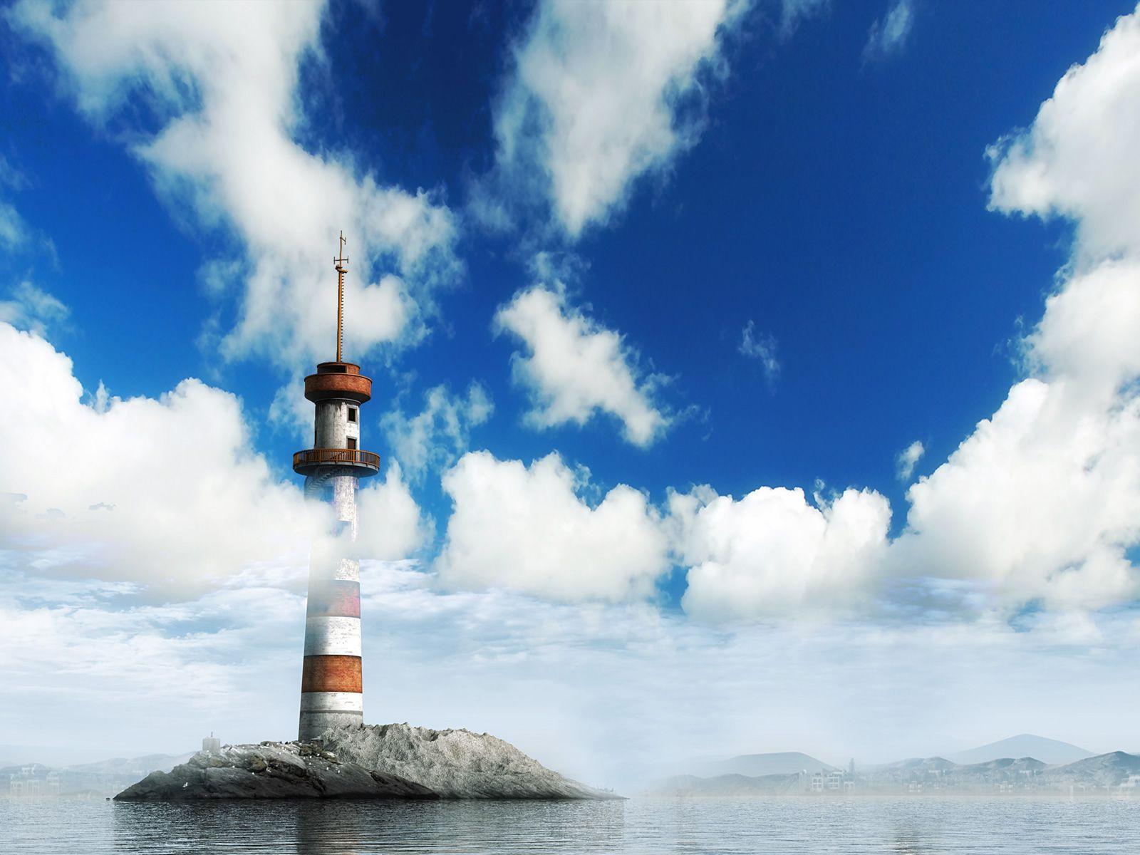 Papel de Parede Farol - Nuvens Wallpaper para Download no ...