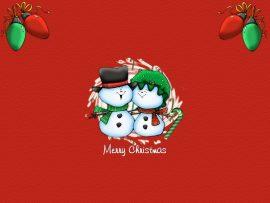 Papel de parede Feliz Natal – Bonecos de Neve