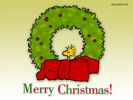 Papel de parede Feliz Natal – Snoopy