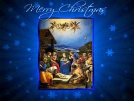 Papel de parede Feliz Natal, Jesus Nasceu