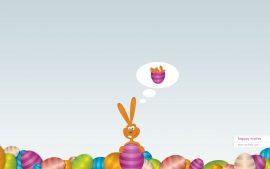 Papel de parede Feliz Páscoa – Coelho