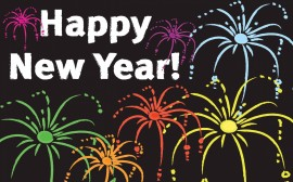 Papel de parede Feliz Ano Novo com Fogos