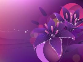 Papel de parede Flor Violeta