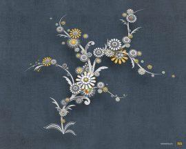 Papel de parede Flores e Ornamento