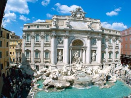 Papel de parede Fonte Trevi de Roma, Itália