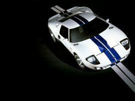 Papel de parede Ford GT branco