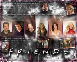 Papel de parede Friends – Phoebe, Joey, Chandler, Monica e Ross