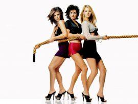 Papel de parede Friends – Rachel, Monica e Phoebe