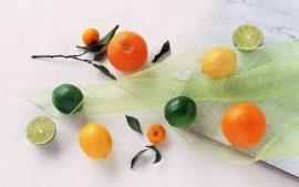 Papel de parede Frutas Cítricas