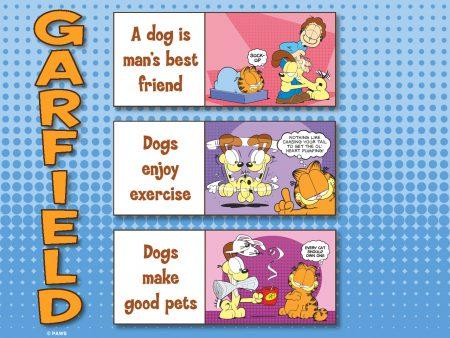 Papel de parede Garfield e os cachorros para download gratuito. Use no computador pc, mac, macbook, celular, smartphone, iPhone, onde quiser!