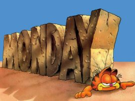 Papel de parede Garfield Segunda-Feira #2