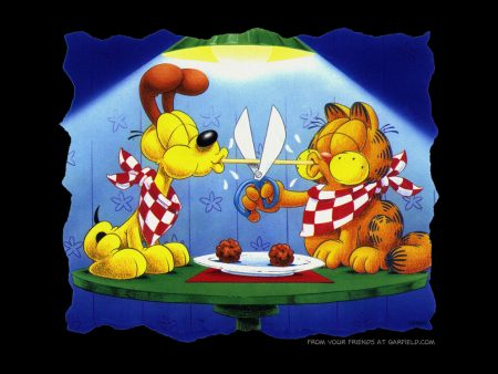 Papel de parede Garfield Spagetti! para download gratuito. Use no computador pc, mac, macbook, celular, smartphone, iPhone, onde quiser!