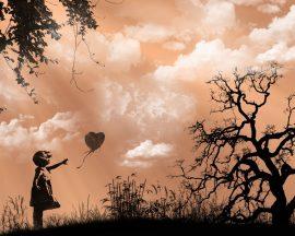Papel de parede Garota com Balão