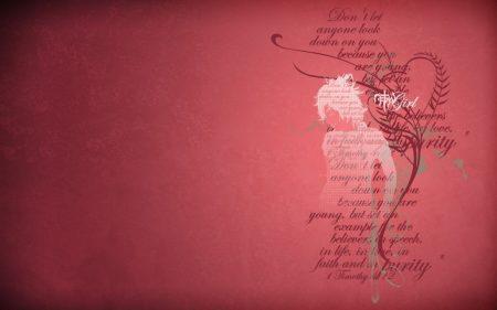 Papel de parede Garota Cristã – 1 Timóteo 4:12 para download gratuito. Use no computador pc, mac, macbook, celular, smartphone, iPhone, onde quiser!