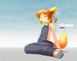 Papel de parede Garota Firefox