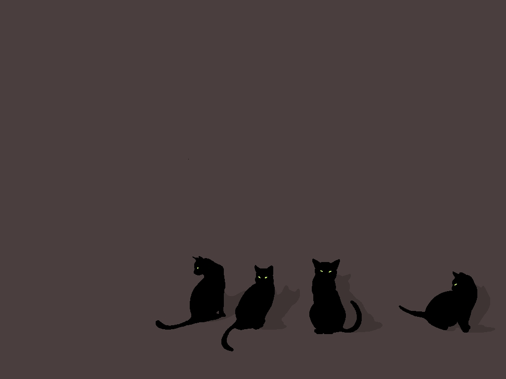 Papel de parede gatos pretos wallpaper para download no for Papel de pared negro