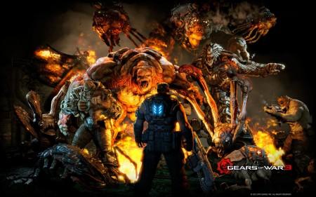 Papel de parede Gears of War, Grande Batalha para download gratuito. Use no computador pc, mac, macbook, celular, smartphone, iPhone, onde quiser!