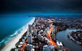 Papel de parede Vista Aérea de Cidade Costeira