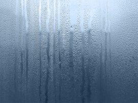 Papel de parede Gotas no vidro