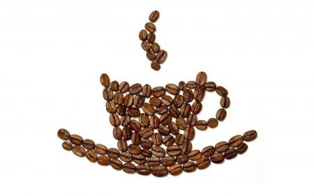 Papel de parede Grãos de Café Formando Xícara para download gratuito. Use no computador pc, mac, macbook, celular, smartphone, iPhone, onde quiser!