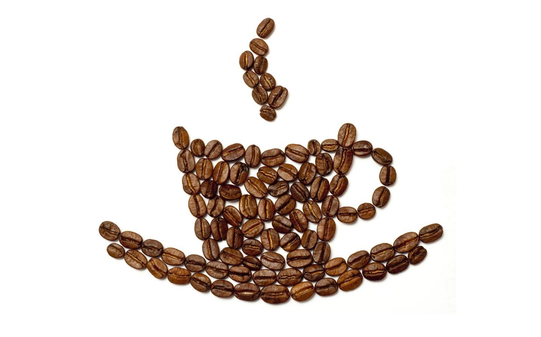 Papel De Parede Graos De Cafe Formando Xicara Wallpaper Para