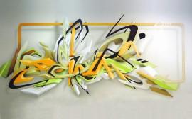 Papel de parede Graffiti 3D