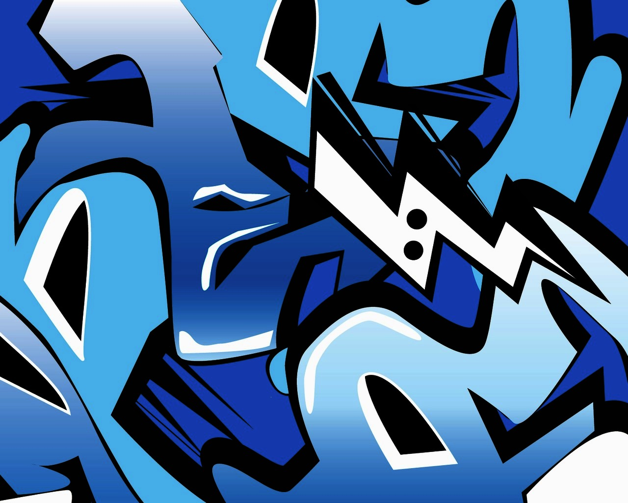 Graffiti Whatsapp Wallpaper: Papel De Parede Graffiti Azul Wallpaper Para Download No