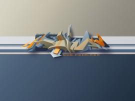 Papel de parede Graffiti em 3D