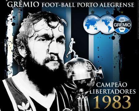 Papel de parede Grêmio Campeão Libertadores 1983 para download gratuito. Use no computador pc, mac, macbook, celular, smartphone, iPhone, onde quiser!