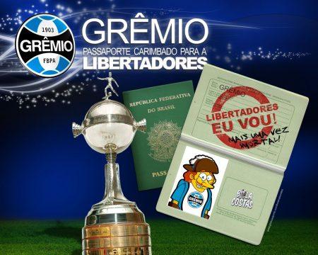 Papel de parede Grêmio na Libertadores 2009 para download gratuito. Use no computador pc, mac, macbook, celular, smartphone, iPhone, onde quiser!