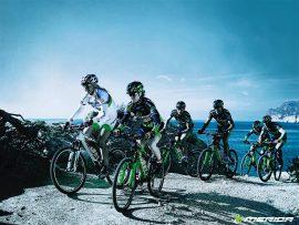 Papel de parede Grupo de Mountain Bike