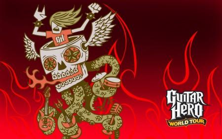 Papel de parede Guitar Hero para download gratuito. Use no computador pc, mac, macbook, celular, smartphone, iPhone, onde quiser!