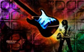 Papel de parede Guitarra – Rock