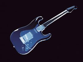 Papel de parede Guitarra 3d Neon