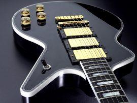 Papel de parede Guitarra Preta