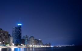 Papel de parede Vista Noturna de Chicago