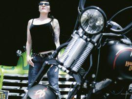 Papel de parede Harley Davidson Tattoo Girl