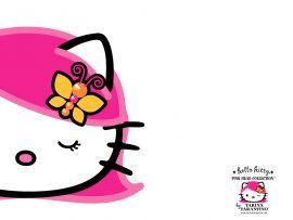 Papel de parede Hello Kitty – Cabelo Rosa