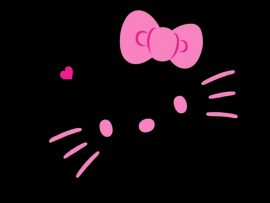 Papel de parede Hello Kitty – No Escuro