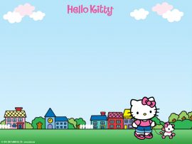 Papel de parede Hello Kitty – Paisagem