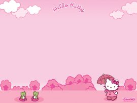 Papel de parede Hello Kitty – Rosa