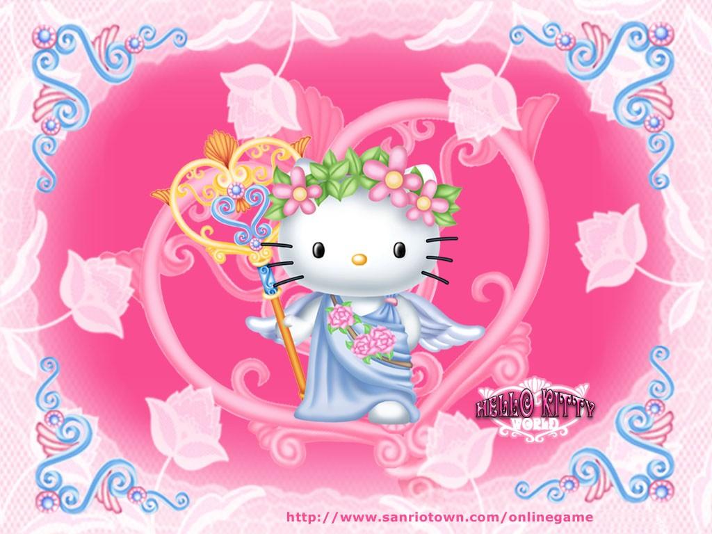Papel de Parede Hello Kitty Anjo #2 Wallpaper para ...