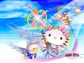 Papel de parede Hello Kitty Anjo