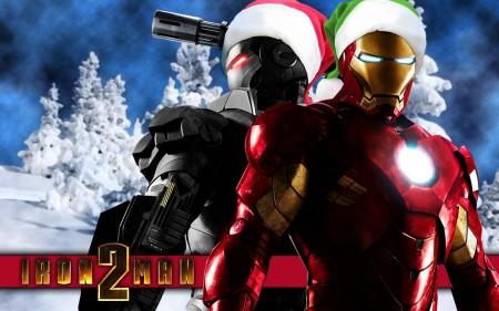 Papel de parede Homem de Ferro 2 – Feliz Natal para download gratuito. Use no computador pc, mac, macbook, celular, smartphone, iPhone, onde quiser!