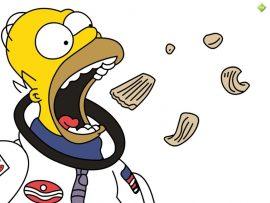 Papel de parede Homer Astronauta